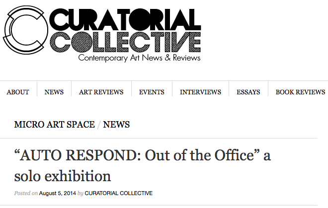 Curatorial Collective – Feature Article